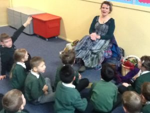A fantastic visit from storyteller Grace Banks!